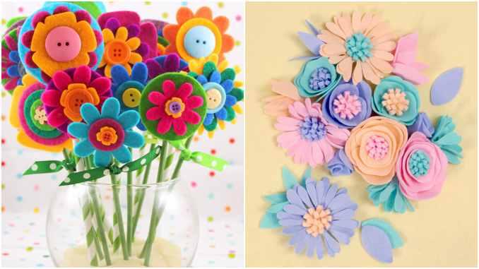 10 dicas para fazer flores de feltro