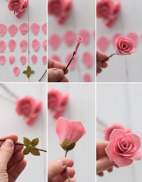 Flores lindas com tecido