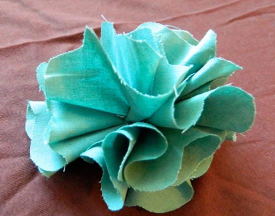 Linda flor com tecido