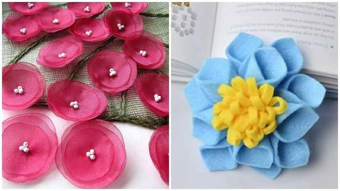 Como fazer flores de tecido de maneira criativa