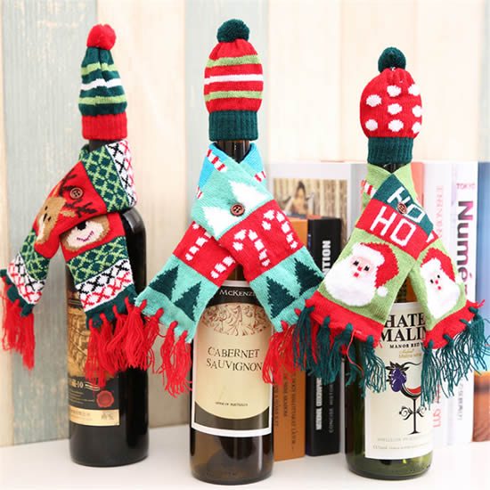 Lindas garrafas decoradas para Natal