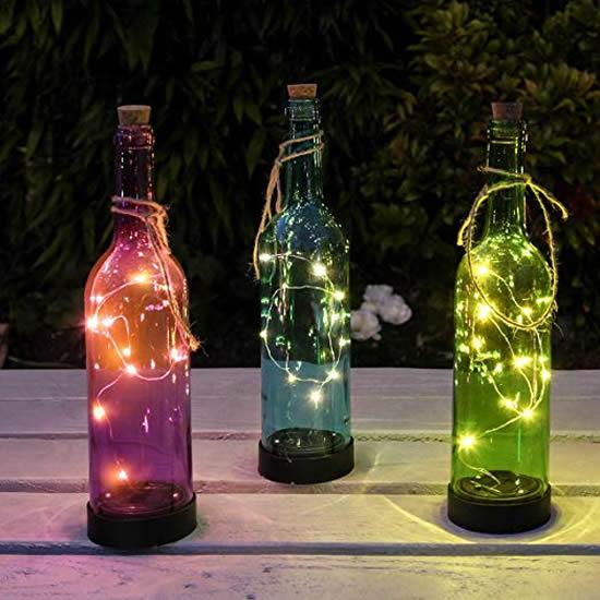 Enfeite com garrafas para Natal