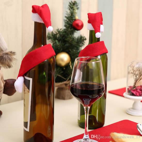 Lindas garrafas decoradas de Natal