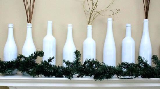 Decoração de Natal com garrafas velhas