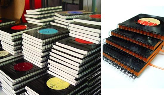 Capas de caderno com vinil