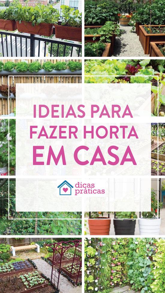 Ideias para fazer horta em casa