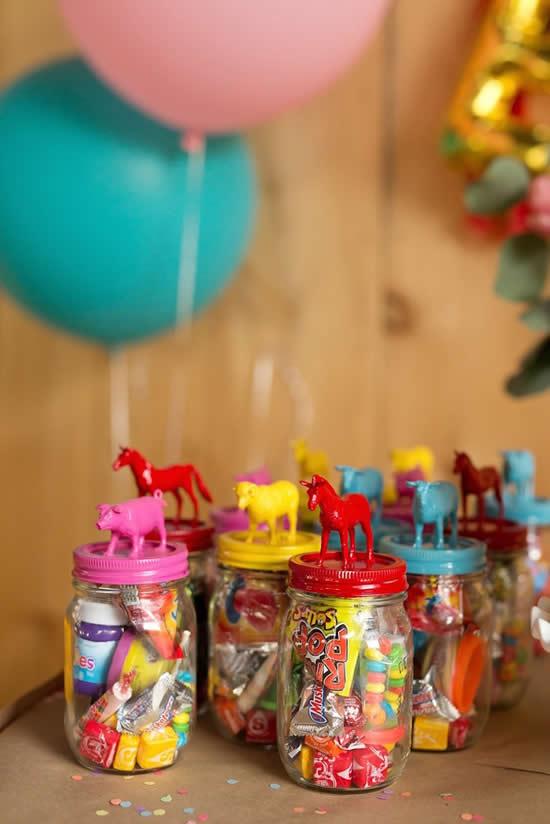 Lembrancinhas com potes para o Dia das Crianças