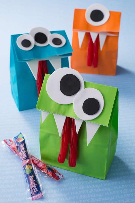 Sacolinhas de papel para Dia das Crianças