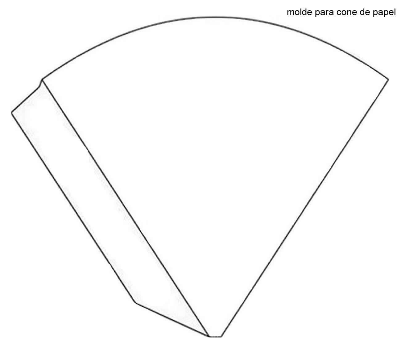Molde de cone de papel