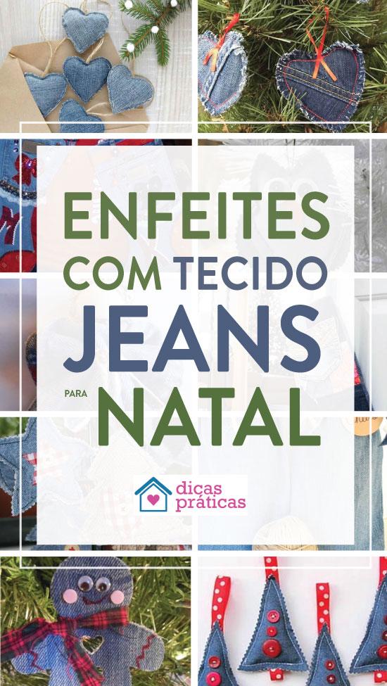 20 ideias lindas de enfeites de Natal com jeans