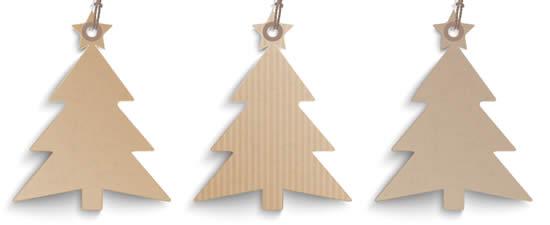 Artesanato de Natal com papelão