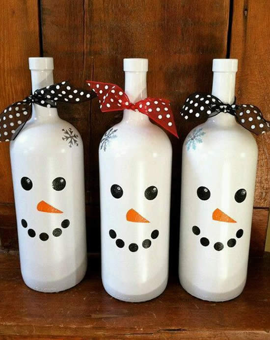 Ideia com garrafas para Natal