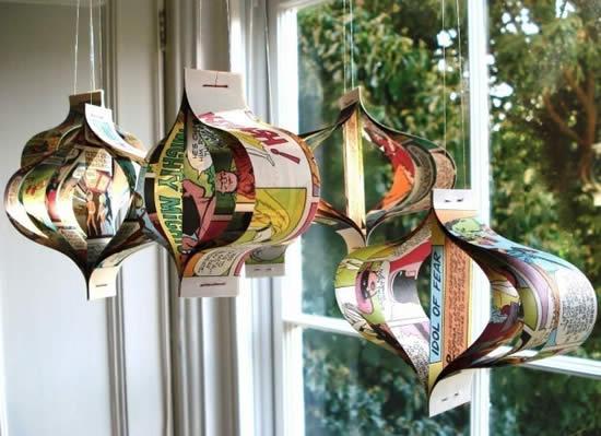 Enfeite com reciclagem para Natal