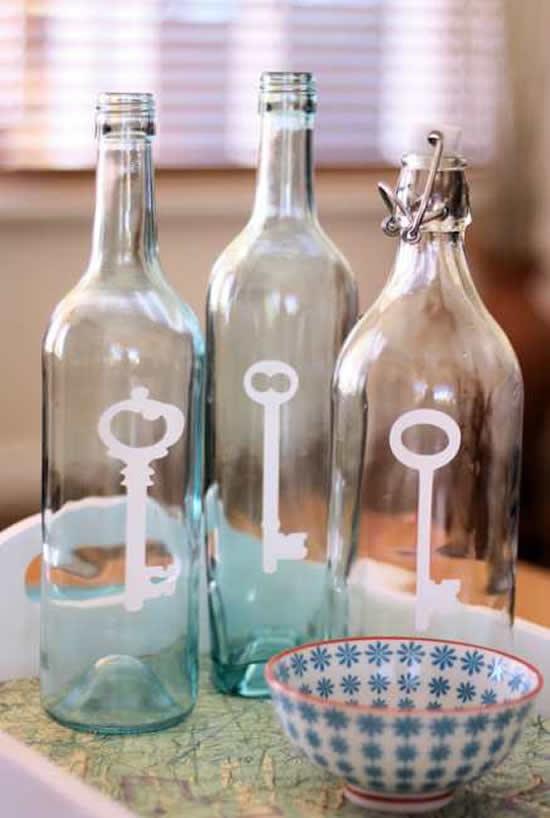 Garrafas de vinho para criar artesanatos