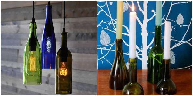 Artesanato para garrafa de vinho