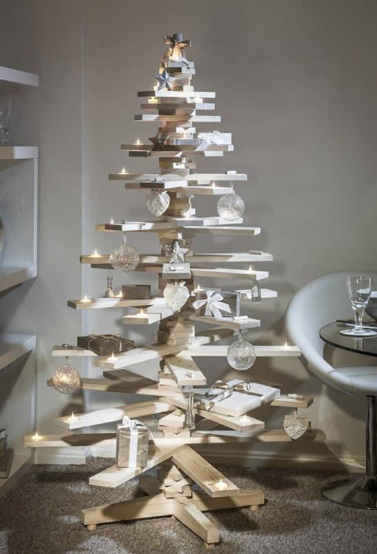 Árvore de Natal inusitada para decoração