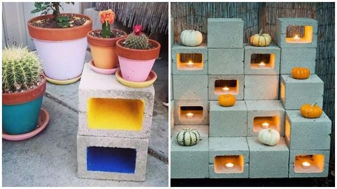 Ideias com blocos de concreto para decoração