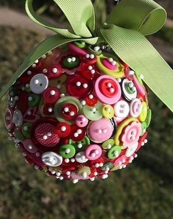 Decoração com botões para Natal