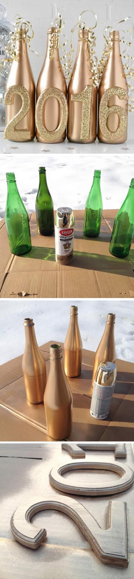 Passo a passo de decoração com garrafas