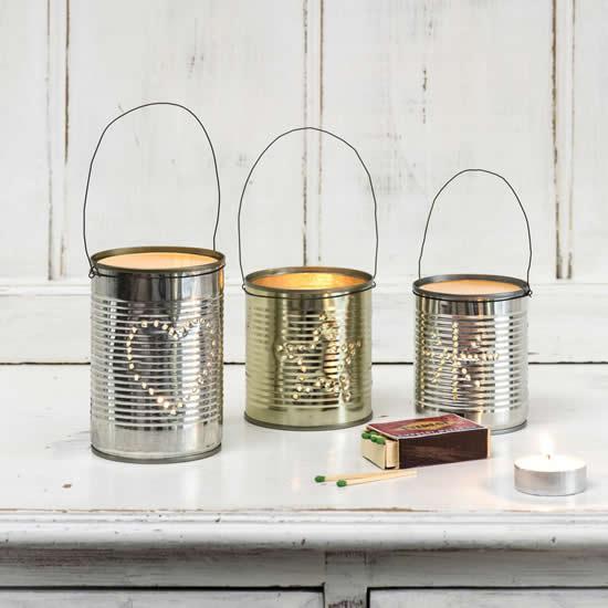 Luminárias com latas