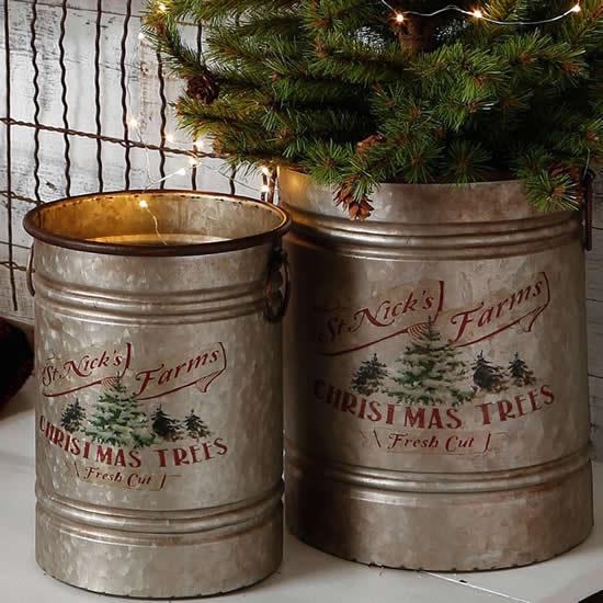 Decoração com lata para Natal