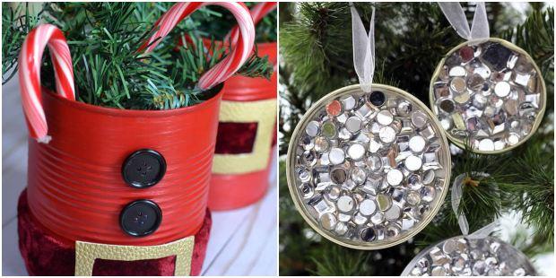 15 ideias de decoração para o Natal com latas