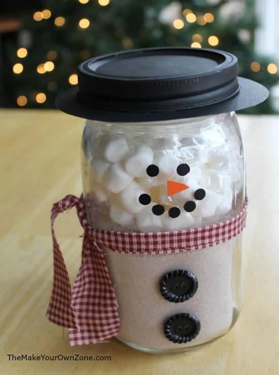 Boneco de Neve com pote para Natal