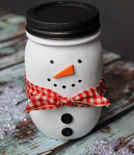 Enfeite com pote para Natal