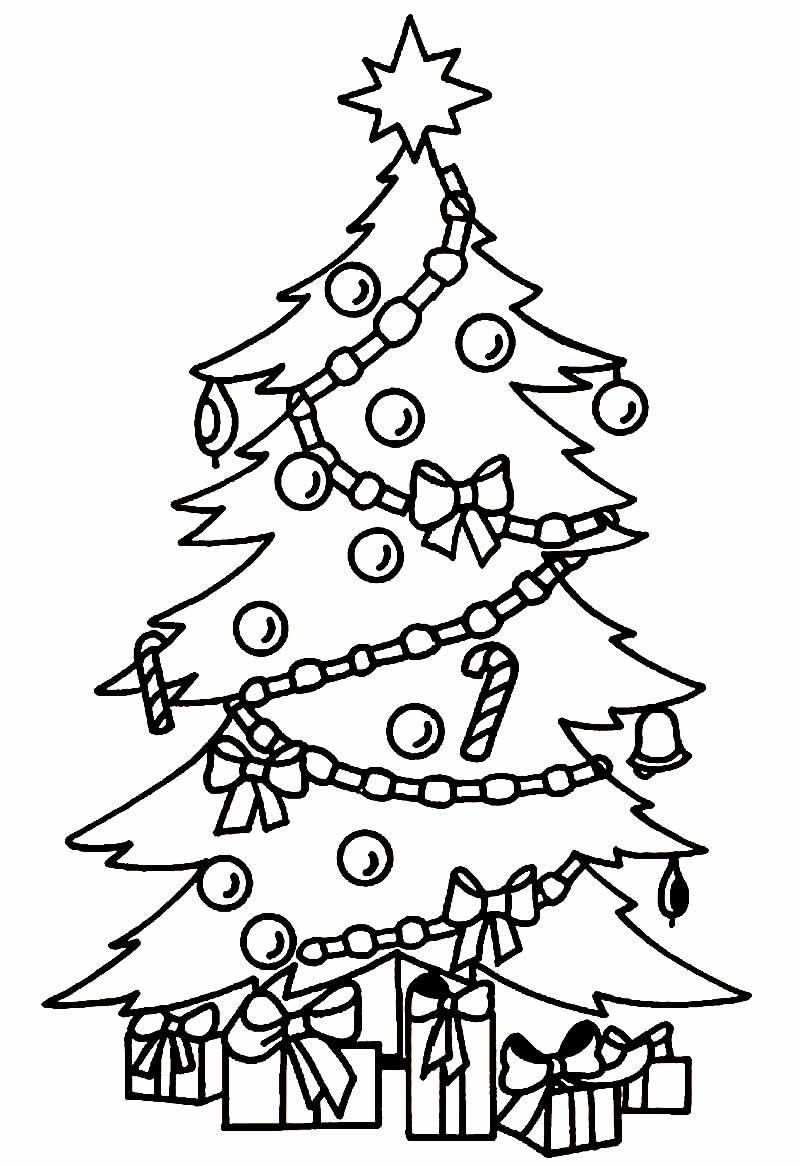 Desenho de Árvore de Natal para colorir