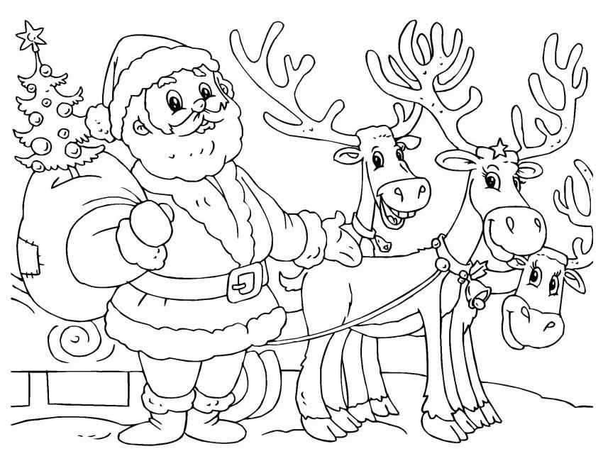 Moldes de Natal para imprimir e colorir