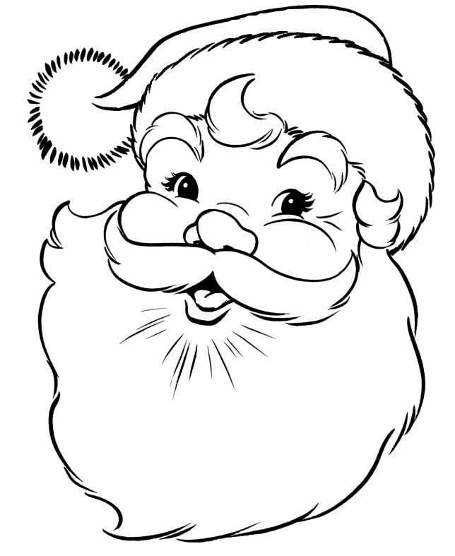 Desenho de Papai Noel para imprimir
