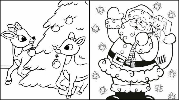 30 desenhos de Natal para colorir