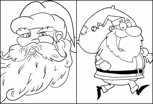 Desenhos lindos de Papai Noel para imprimir e colorir