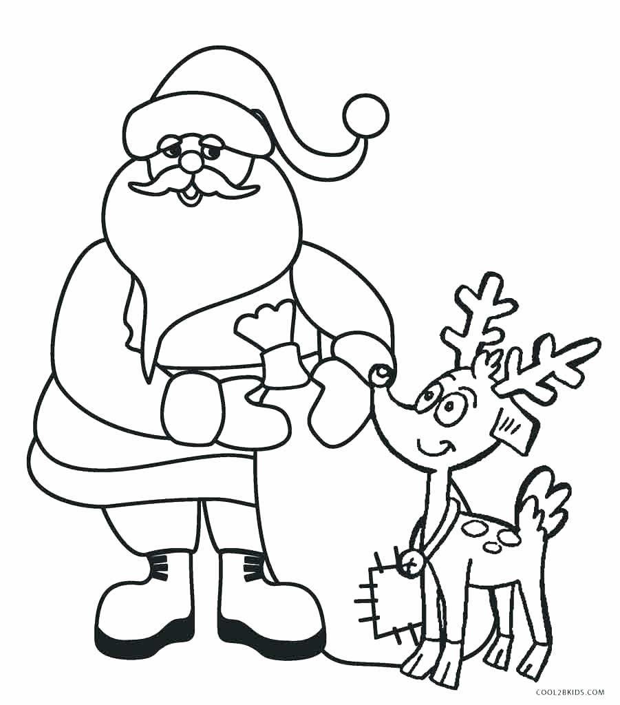 Molde de Papai Noel para colorir