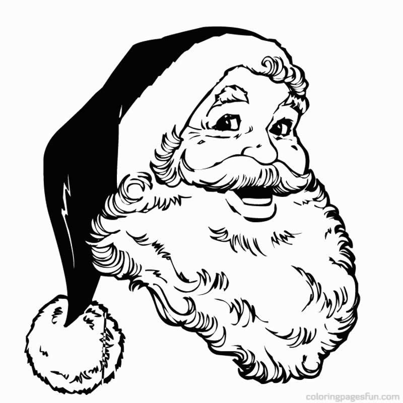 Desenho de Papai Noel para imprimir e colorir