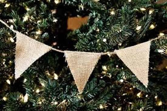 Guirlanda de juta para Árvore de Natal