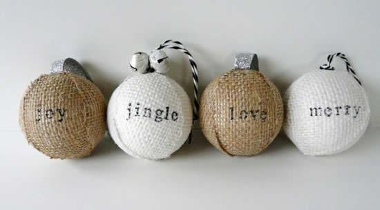 Bolas de juta para Árvore de Natal