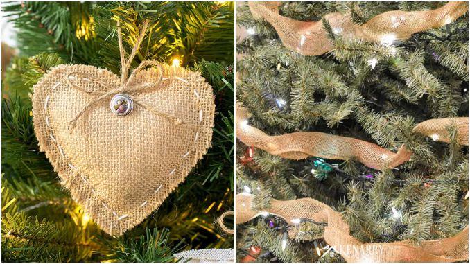 Enfeites com juta para decoração de Natal