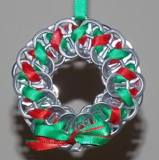 Decoração linda com reciclagem para o Natal