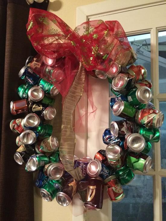 Lindas ideias com reciclagem para o Natal