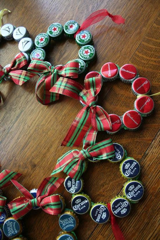 Enfeite com reciclagem para o Natal