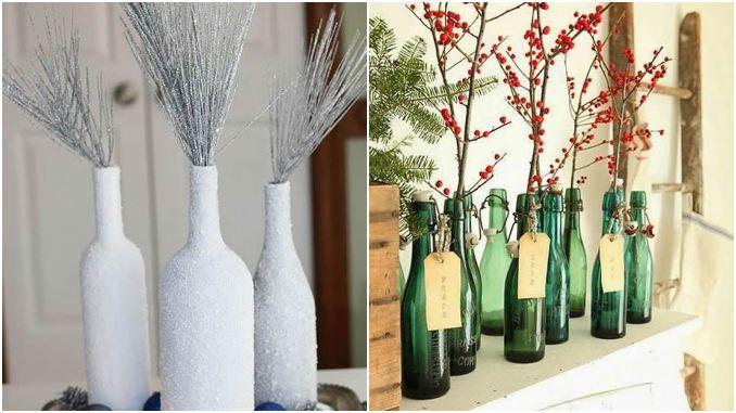 Enfeites reciclados de garrafas para Natal