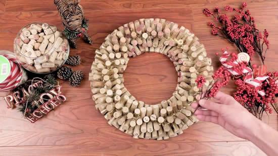 20 ideias de decoração de Natal com rolhas
