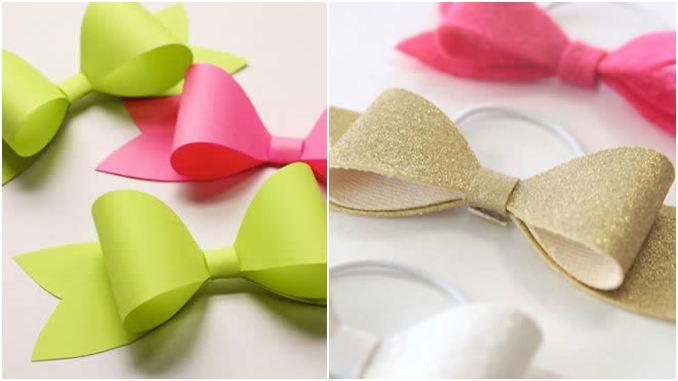 Laço de papel ou EVA com moldes