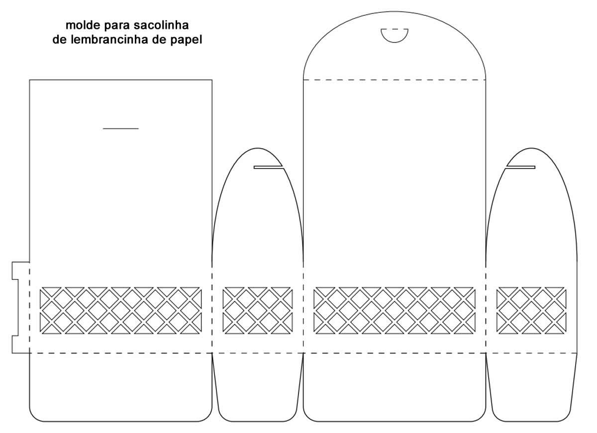 Molde para sacolinha de papel