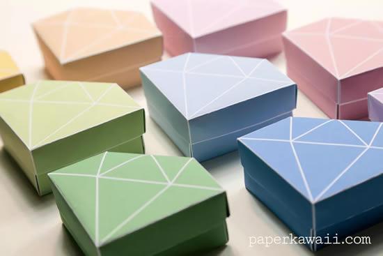 Caixinha diamante de papel