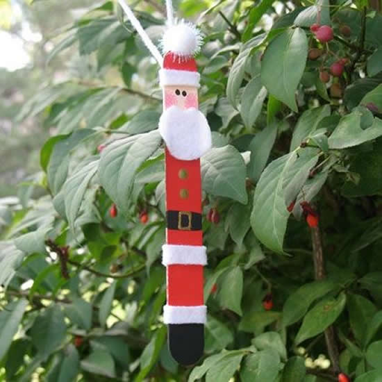 Papai Noel com palitos de picolé