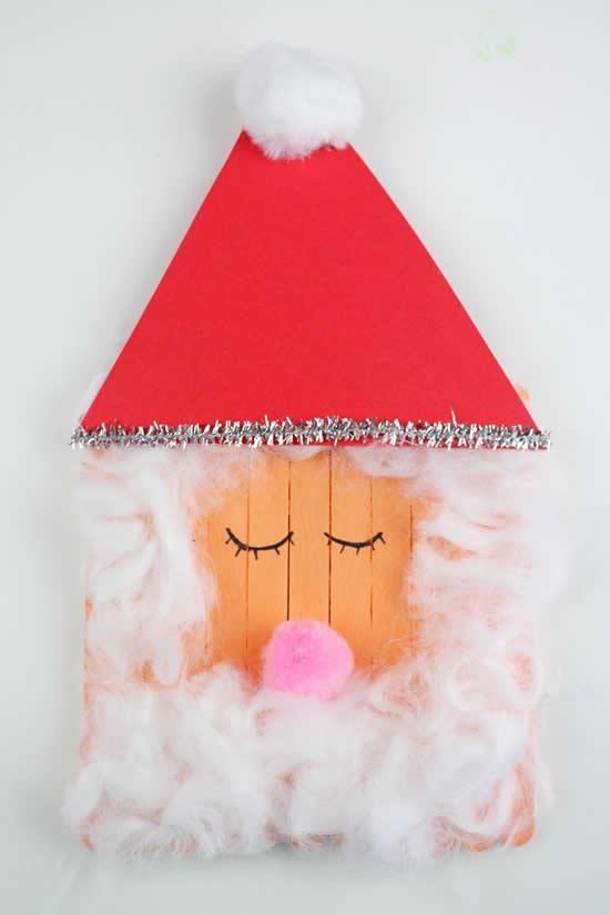 Papai Noel perfeito com palitos de picolé