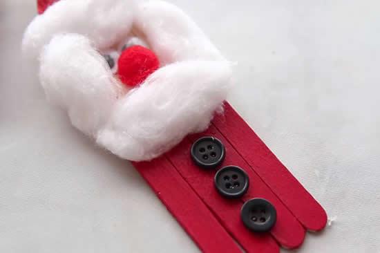 Lindo Papai Noel com palitos de picolé