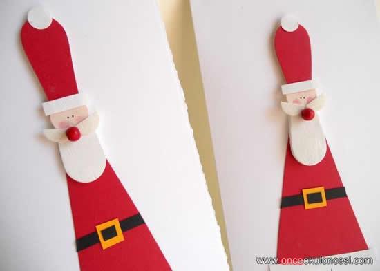 Faça Papai Noel com palitos de picolé